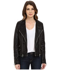 Blank Nyc Vegan Leather Moto Crop Jacket Black Women's Jacket
