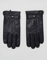Peter Werth Classic Leather Gloves In Black