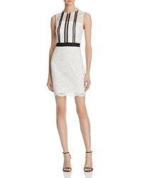 Aqua Panel Lace Sleeveless Dress White Black