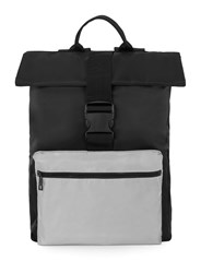 Topman Black Roll Top Backpack