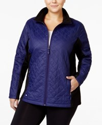 Ideology Plus Size Quilted Jacket Only At Macy's Rich Plum