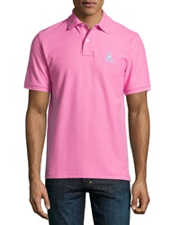 Psycho Bunny Contrast Logo Polo Pink
