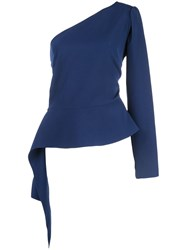 Christian Siriano One Shoulder Peplum Top 60