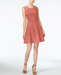 Bar Iii Cutout Fit And Flare Dress Only At Macy's Hibiscus Bloom