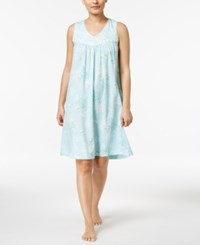 Charter Club Lace Trimmed Printed Cotton Nightgown Only At Macy's Floral Spray