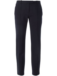 Tory Burch Cropped Trousers Blue