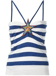 Just Cavalli Start Patch Striped Top Blue