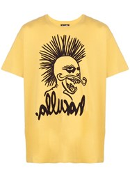Haculla Hac Head Drop Shoulder T Shirt Yellow