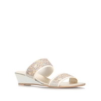 Carvela Comfort Sage Low Wedge Heel Sandals Taupe