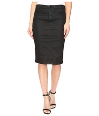 Blank Nyc Black Coated Pencil Skirt In All Lacquered Up All Lacquered Up Women's Skirt