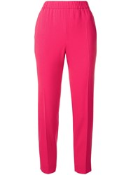 Escada Cropped Trousers Pink