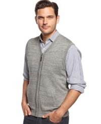 Tasso Elba Big And Tall Zipper Front Sweater Vest Only At Macy's Slate Combo