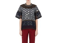 Kolor Women's Mixed Fabric Oversized Top No Color