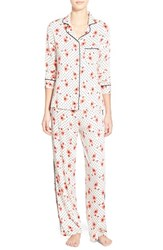 Women's Splendid Piped Pajamas Poppy Party