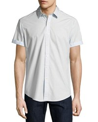 Robert Graham Stars Short Sleeve Woven Shirt White