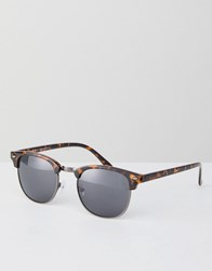 New Look Square Sunglasses In Brown Pattern Brown Pattern