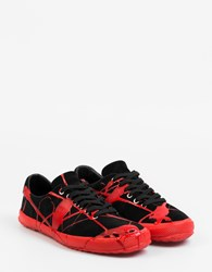 Comme Des Garcons Dripping Sneakers Black Red