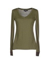 Brooksfield T Shirts Military Green