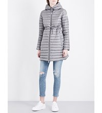 Moncler Barbel Hooded Quilted Shell Coat Gunmetal