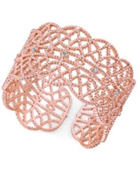 Inc International Concepts Crystal Studded Filigree Ring Created For Macy's Rose Gold