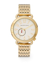 Saks Fifth Avenue Goldtone Ip Round Bracelet Watch