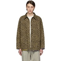 Needles Reversible Brown Leopard And Camo Field Jacket