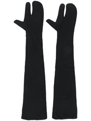 Maison Martin Margiela Mm6 Long Gloves Black