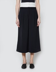 Tibi Double Waist Cropped Pants Ivory Black