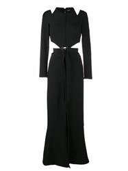 Proenza Schouler Cut Out Long Dress Black