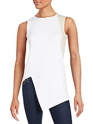 Narciso Rodriguez Cashmere Blend Sleeveless Top White