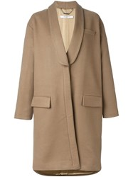 Givenchy Oversized Mid Length Coat Nude And Neutrals