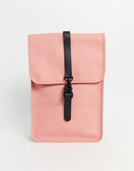 Rains Coral Backpack In Coral Pink