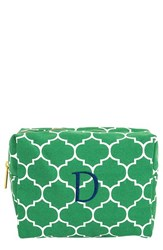 Cathy's Concepts Monogram Cosmetics Case Green D