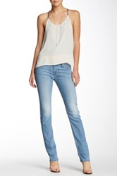 Hudson Jeans Carly Mid Rise Straight Leg Jean Blue