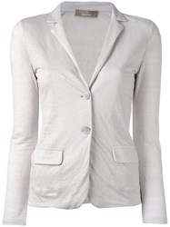 Cruciani Fitted Blazer Jacket Women Linen Flax 40 Nude Neutrals