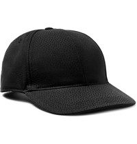 Dolce And Gabbana Micro Dot Cotton Silk Blend Jacquard Baseball Cap Black