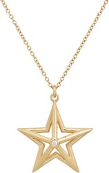 Dean Harris Diamond And Gold Star Pendant On Chain Gold