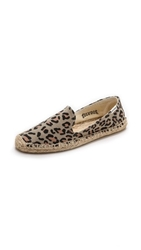 Soludos Leopard Smoking Slippers Tan