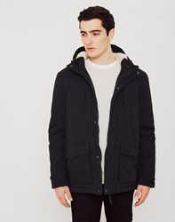 The Idle Man Sherpa Lined Parka Black
