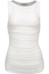 Bailey 44 Parvati Ruched Stretch Jersey Top White