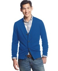 Tommy Hilfiger Signature Solid Cardigan Nautical Blue