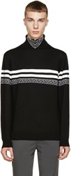 Alexander Wang Black And White Knit Turtleneck