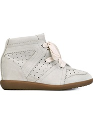 Isabel Marant Etoile 'Bobby' Concealed Wedge Sneakers Nude And Neutrals
