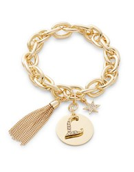 Rj Graziano L Initial Chain Link Charm Bracelet Gold
