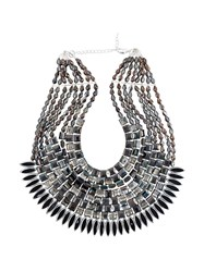 Night Market Crystal Chunky Necklace Grey