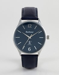 Barbour Bb079blbl Jesmond Leather Watch In Navy