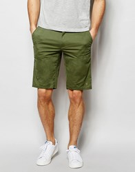 Farah Chino Shorts In Stretch Cotton Green