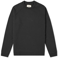 Folk Rivet Crew Sweat Black