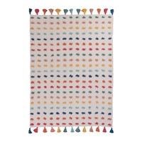 Ian Snow Handwoven Multicoloured Pom Pom Throw 125X175cm
