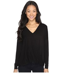 Culture Phit Mahli Crossover Long Sleeve Top Black Women's Clothing